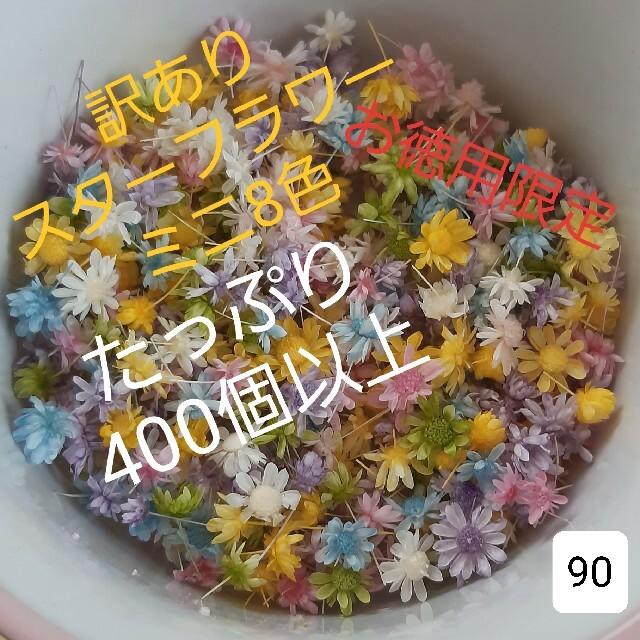 訳あり90スターフラワーミニ8色 400個以上 ハンドメイドのフラワー/ガーデン(ドライフラワー)の商品写真