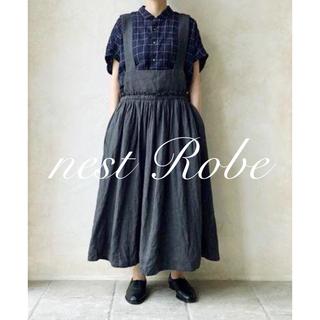 nest Robe - * nest Robe * 2019 リネン綾サロペットワンピース