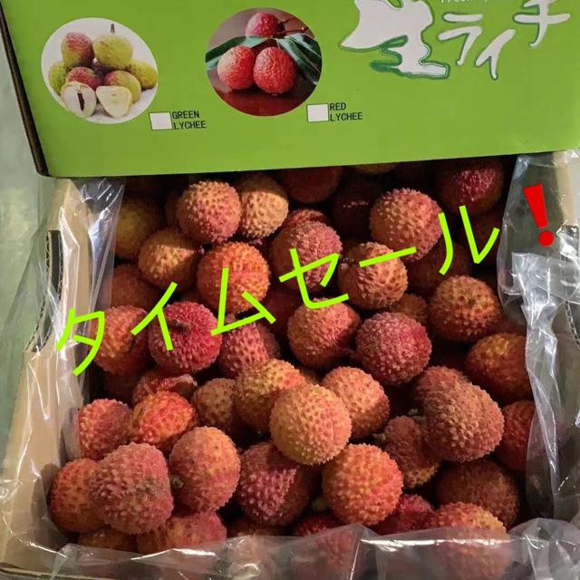 送料込み!生ライチ1kg タイムセール 食品/飲料/酒の食品(フルーツ)の商品写真