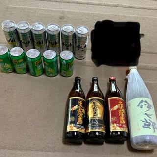 伊七郎1800mlと芋焼酎4合瓶3本セットです。おまけでビール(焼酎)