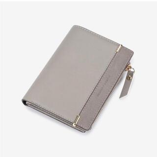 二つ折り財布 カードケース グレー