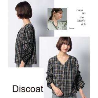 ディスコート(Discoat)の新品♥袖タックチェックのブラウス(シャツ/ブラウス(長袖/七分))