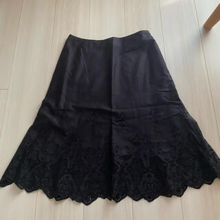 アンクライン(ANNE KLEIN)の美品!ANNE KLINE アンクライン スカート ブラック(ひざ丈スカート)