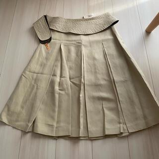 アンクライン(ANNE KLEIN)の美品!ANNE KLINE アンクライン ベルト付き スカート ベージュ(ひざ丈スカート)
