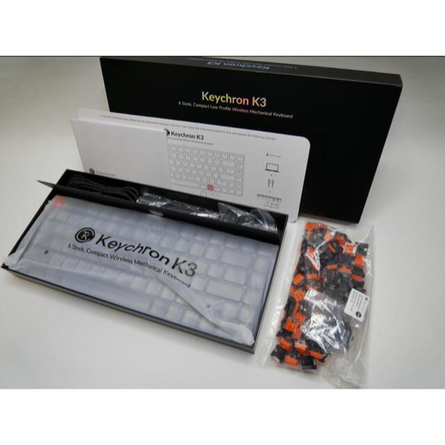 Keychron K3 Ultra-slim ワイヤレスキーボード スマホ/家電/カメラのPC/タブレット(PC周辺機器)の商品写真
