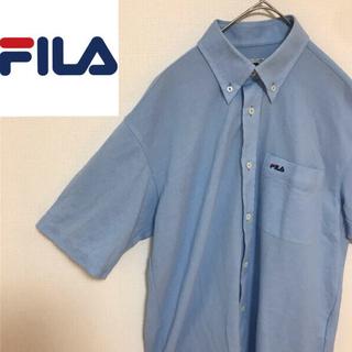FILA - FILA フィラ 半袖ポロシャツ 水色 Mサイズ