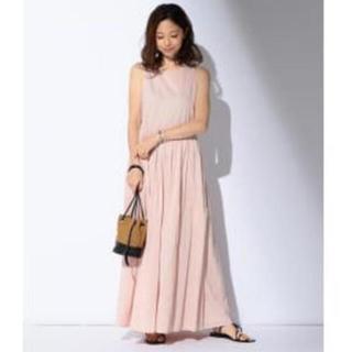 ドゥーズィエムクラス(DEUXIEME CLASSE)の新品タグ付き MARIHA / 夏のレディのドレス ローズクォーツ 38(ロングワンピース/マキシワンピース)