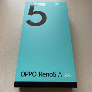 オッポ(OPPO)のOPPO Reno5A シルバーブラック (スマートフォン本体)