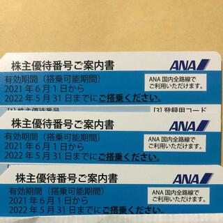 エーエヌエー(ゼンニッポンクウユ)(ANA(全日本空輸))のANA国内線全線の株主優待券(航空券)