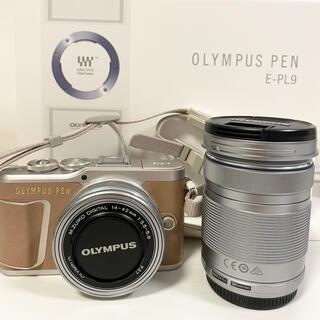 OLYMPUS - OLYMPUS オリンパスペン E-PL9 ダブルズームキット ブラウン