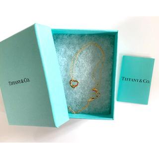 Tiffany & Co. - 【超美品】Tiffanyk18 ネックレス オープンハート