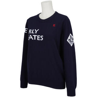 PEARLY GATES - パーリーゲイツ  ウールカシミヤ 20s  インターシャセーター