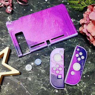 ニンテンドースイッチ(Nintendo Switch)の水彩 タイダイ Switch ソフト 保護 カバー ディープパープル RN05(その他)