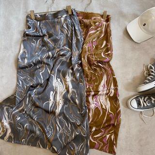 アリエス(aries)の新作 aries mirage marble skirt アリエスミラージュ(ロングスカート)