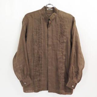ISSEY MIYAKE -  70s イッセイミヤケ リネン ピンタック シャツ ビンテージ オールド 初期