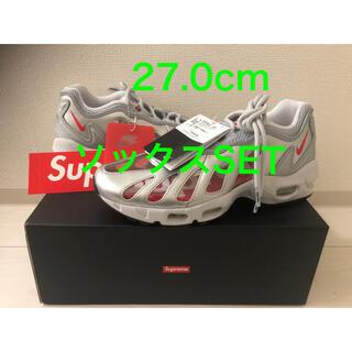 ナイキ(NIKE)のSupreme Nike Air Max 96 Silver socks SET(スニーカー)