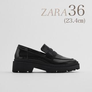 ZARA - 完売品 ♡ 新品 ZARA ローファー レア 黒 シンプル 靴