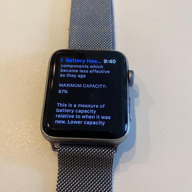 Apple(アップル)のApple Watch 3 美品 42mm GPSモデル スマホ/家電/カメラのスマートフォン/携帯電話(その他)の商品写真