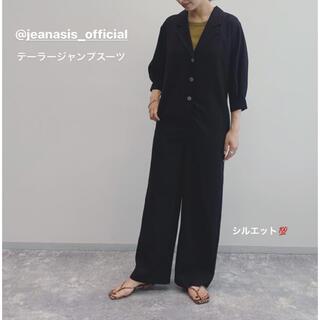 JEANASIS - ⭐︎新品⭐︎ jeanasis テーラージャンプスーツ ブラック
