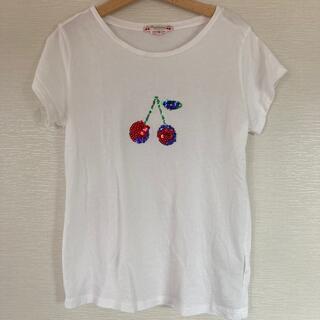 Bonpoint - ボンポワンのTシャツ 10a チェリー スパンコール