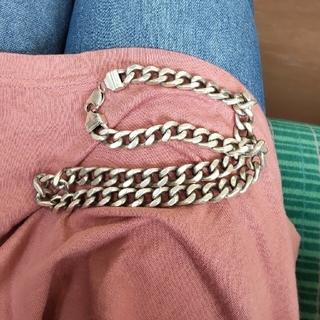 超極太シルバー925喜平ネックレス。50センチ幅1センチ120グラム。(ネックレス)