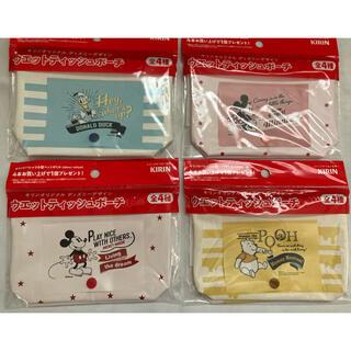 キリン(キリン)のキリン オリジナルディズニーデザイン ウェットティッシュポーチ 全4種セット(キャラクターグッズ)