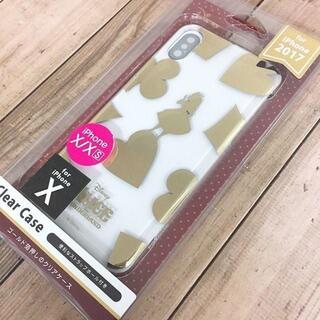 フシギノクニノアリス(ふしぎの国のアリス)のゴールド箔押し アリス iPhoneXs / iPhoneX 兼用 スマホケース(iPhoneケース)