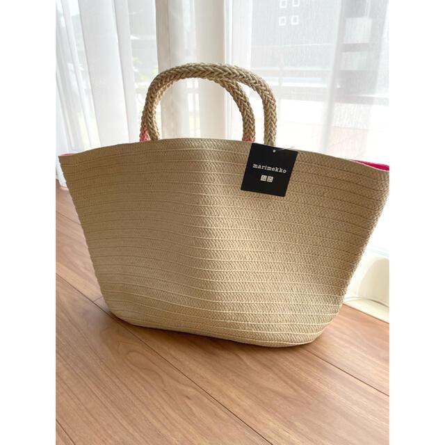 UNIQLO(ユニクロ)の日本未発売☆新品 ユニクロ×マリメッコ かごトートバッグ レディースのバッグ(トートバッグ)の商品写真