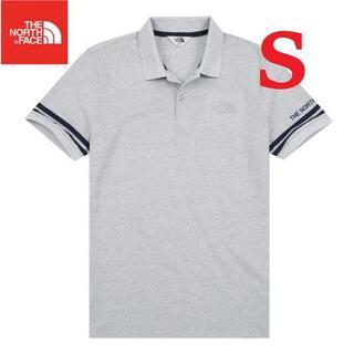 ザノースフェイス(THE NORTH FACE)の海外 ノースフェイス ポロシャツ メンズ 夏 ロゴ刺繡 グレー S K127A(ポロシャツ)