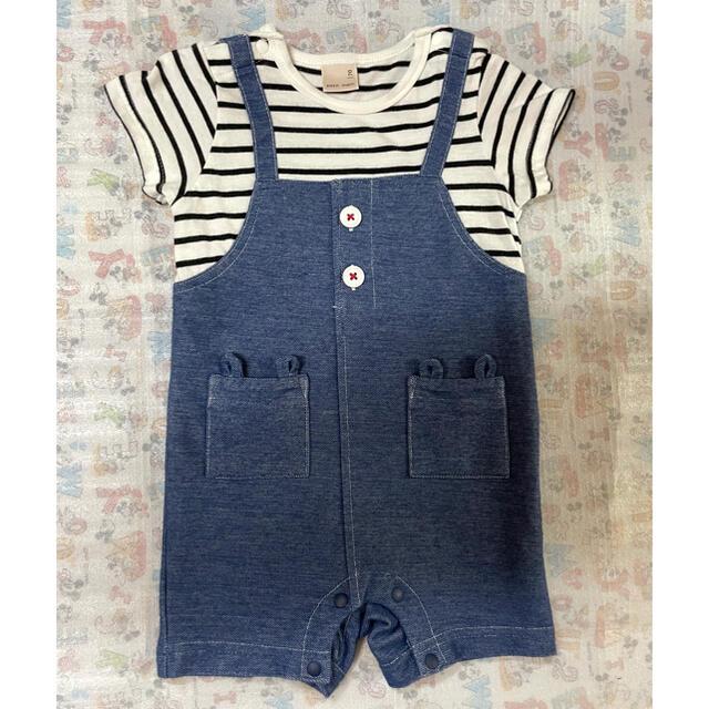 petit main(プティマイン)のプティマイン ショートオール キッズ/ベビー/マタニティのベビー服(~85cm)(ロンパース)の商品写真