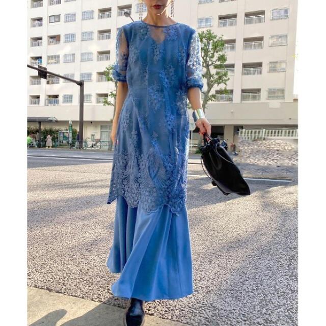 Ameri VINTAGE(アメリヴィンテージ)のAmeri VINTAGE 3WAY LAYERED LACE DRESS レディースのワンピース(ロングワンピース/マキシワンピース)の商品写真