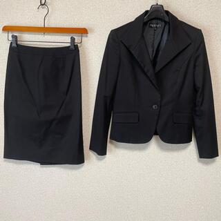 インディヴィ(INDIVI)のインディヴィ タイト スカートスーツ 上38下36 W64 DMW 黒 OL(スーツ)