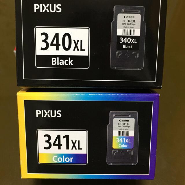 キャノンインクカートリッジ BC340,341XL スマホ/家電/カメラのPC/タブレット(PC周辺機器)の商品写真