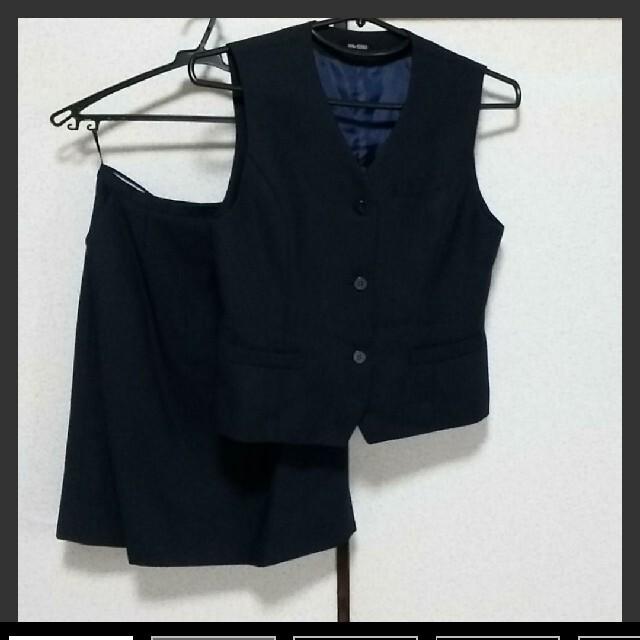 制服 megumi様 事務服 ベスト スカート 13号 20日着用 ラスト レディースのレディース その他(セット/コーデ)の商品写真