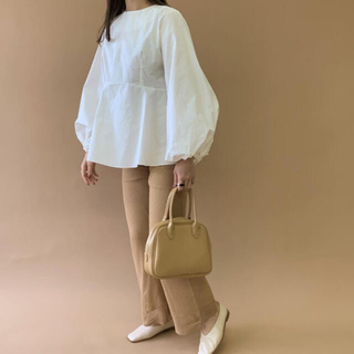 Kastane - cotton hem wide blouse【Amiur】