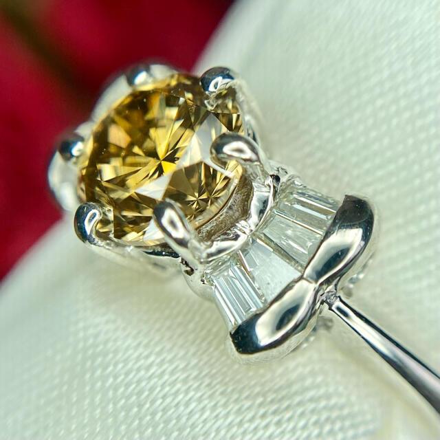 『専用です』天然無処理ダイヤモンド 1.005×0.20 SI1-FB 中宝研ソ レディースのアクセサリー(リング(指輪))の商品写真