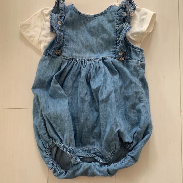 babyGAP(ベビーギャップ)の‼️美品‼️babyGapデニムロンパース袖フリル 60cm3〜6M キッズ/ベビー/マタニティのベビー服(~85cm)(ロンパース)の商品写真