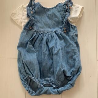 babyGAP - ‼️美品‼️babyGapデニムロンパース袖フリル 60cm3〜6M