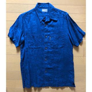 BLUE BLUE - BLUE BLUE 横浜限定 半袖リネンシャツ(藍染め)