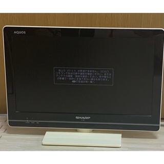 アクオス(AQUOS)のSHARP AQUOS LC-19K5  テレビ リモコン付 19インチ(テレビ)