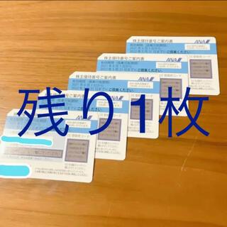 エーエヌエー(ゼンニッポンクウユ)(ANA(全日本空輸))のANA 株主優待割引券 1枚(航空券)