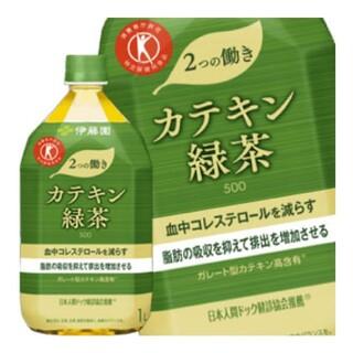 イトウエン(伊藤園)の伊藤園 カテキン緑茶 1L 24本 セット 新品未開封(茶)