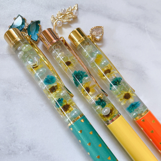 ハーバリウムボールペン 3本セット 向日葵セット