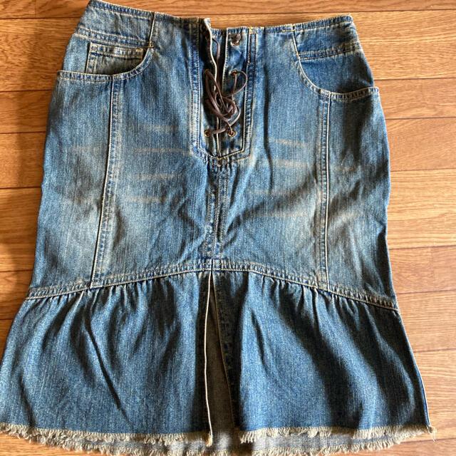 EASTBOY(イーストボーイ)のデニムスカート レディースのスカート(ひざ丈スカート)の商品写真