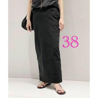 アパルトモンドゥーズィエムクラス(L'Appartement DEUXIEME CLASSE)のAP STUDIO (ツイカ)ウォッシュタイトスカート   ブラック38(ロングスカート)
