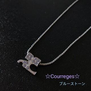 Courreges - 未使用 クレージュのネックレス♪ブルーストーン☆ Courreges