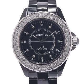 シャネル(CHANEL)のシャネル  J12 42mm 12Pダイヤ 二重ベゼルダイヤ 腕時計(腕時計(アナログ))