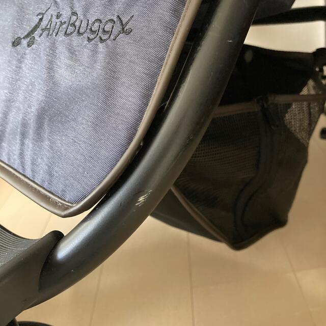 AIRBUGGY(エアバギー)のエアバギーココダブル スペシャルエディション テクスチャーデニム キッズ/ベビー/マタニティの外出/移動用品(ベビーカー/バギー)の商品写真