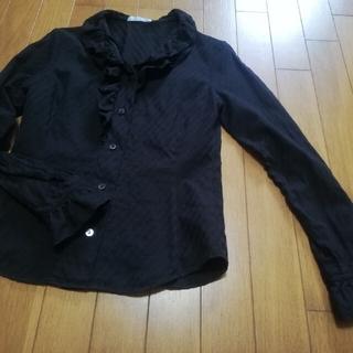 NARACAMICIE - NARACAMICIE 黒 フリルシャツ