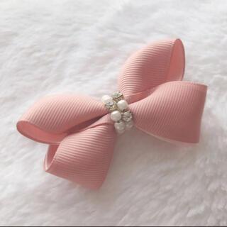 ヘアゴム リボン バレッタ ヘアピン 量産型 ピンク ビジュー(バレッタ/ヘアクリップ)